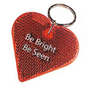 Heart Reflector Keyrings