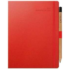 Ivory Matra Large Weekly Diaries with Pencil