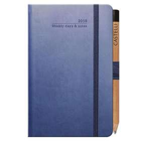 Ivory Tucson Pocket Weekly Diary with Pencil