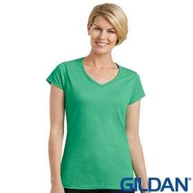 Ladies Gildan V Neck T Shirts