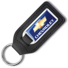 Large Medallion Leather Keyfobs