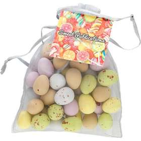 Large Organza Bags with Mini Eggs