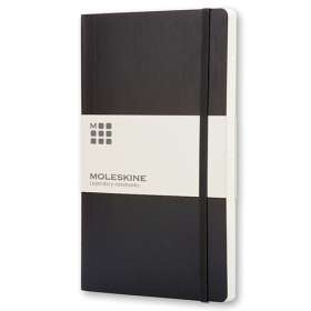 Large Moleskine Soft Cover Plain Notebook