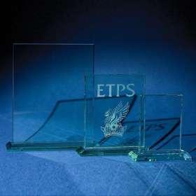 Medium Jade Glass Trophy Plaque