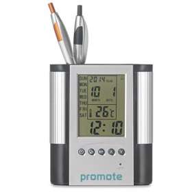 Multifunction Pen Pot with Alarm Clock