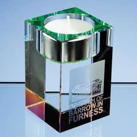 Optical Crystal Tealight Holders