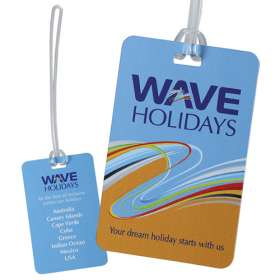 Double Sided Plastic Luggage Tags