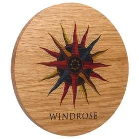 Cork Backed Real Wood Coasters