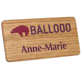 Real Wood Name Badges