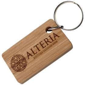 Product Image of Real Wood Oblong Keyrings
