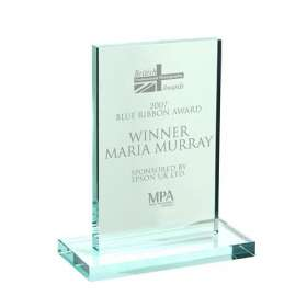 Rectangular Jade Glass Trophy Awards