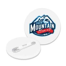 Recycled Plastic Mini Circle Badges