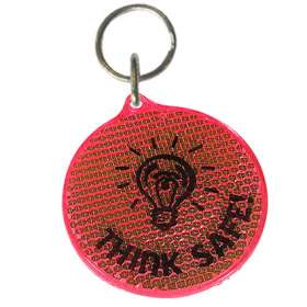 Round Reflector Keyrings - extra images