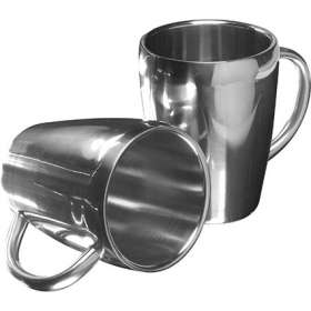 Product Image of Set of 2 Stainless Steel Mugs