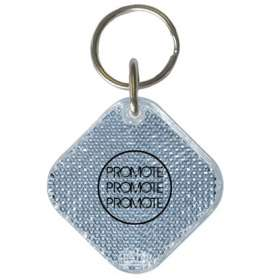 Square Reflector Keyrings