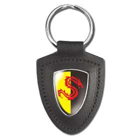 Templar Shield Leather Keyfobs