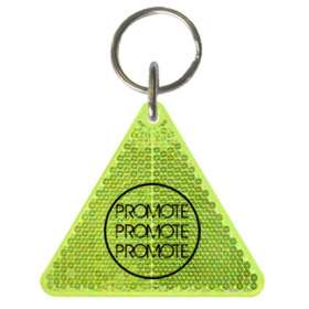 Triangle Reflector Keyrings - extra images
