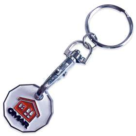 Trolley Coin Token Keyring