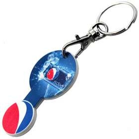 Round Trolley Token Stick Keyrings