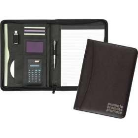 Chiddingstone A4 Zipped Calculator Folder