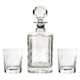 Large Crystal Decanter and Glass Sets
