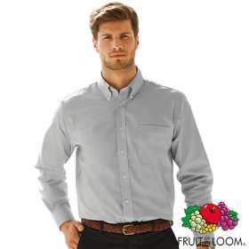 Fruit of the Loom Mens Long Sleeve Oxford Shirts