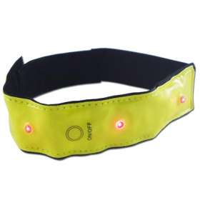 Flashing LED Reflective Bands
