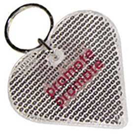 Heart Reflector Keyrings - extra images