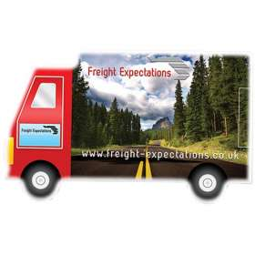 Lorry Shaped Mint Cards