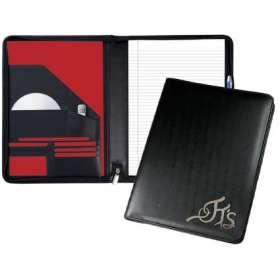 Malvern A4 Leather Zipped Conference Folders