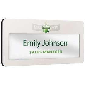 Metal Window Staff Name Badges