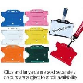 Rigid Plastic ID Card Holders - extra images