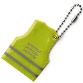 Product Image of Vest Shaped Reflective Key Ring