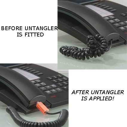 telephone wire untangler printed phone accessories personalised office gadgest