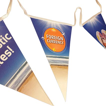 Printed Triangle Bunting for party merchanise