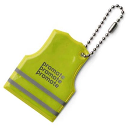 Vest Shaped Reflective Key Ring