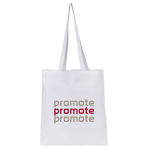 Promotional Printed White Cotton Tote Bag for eco campaigns
